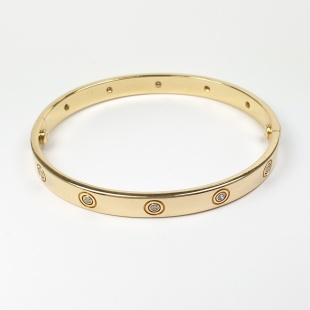 Cartier LOVE Armband in Gelbgold 750 - 18K mit 10 Brillanten