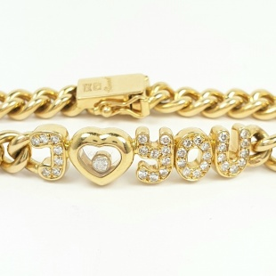 Chopard Bracelet I love you Happy-Diamonds in Gelbgold 750 - 18K mit 35 Brillanten